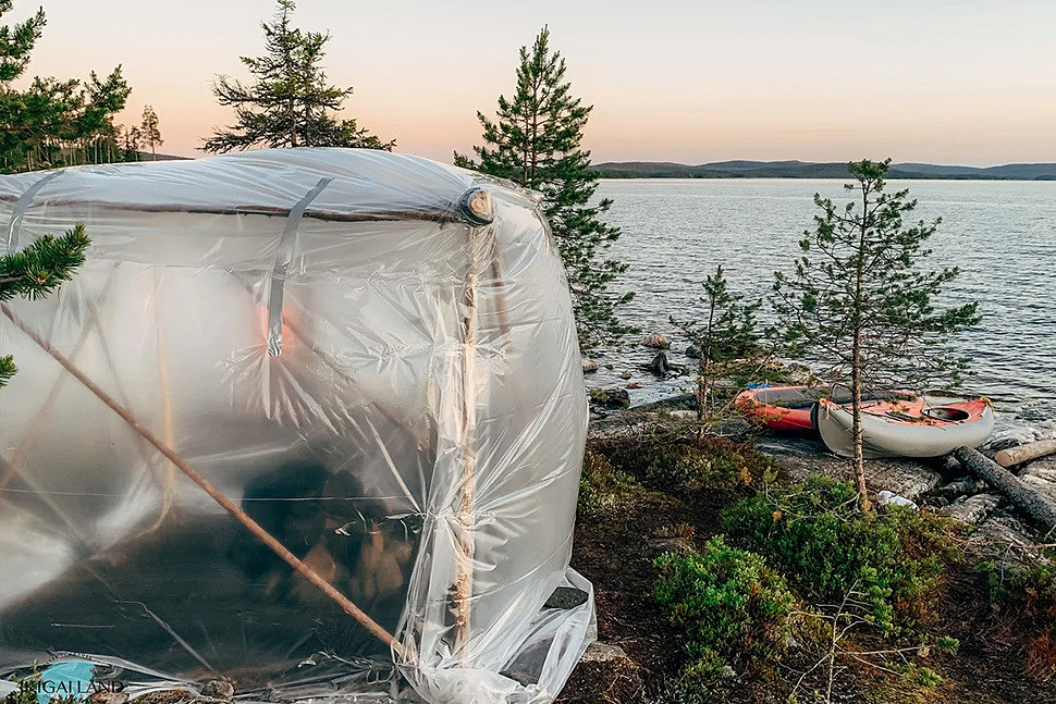 2 ways to make a sauna in nature