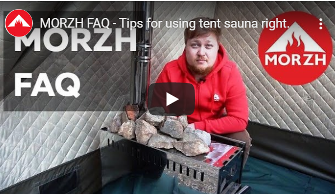 It's new video with FAQ about tent sauna